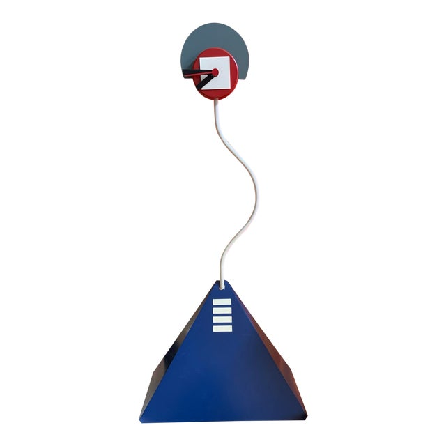 1984 George Nelson for Howard Miller Signed Metro Clock Memphis Design For Sale