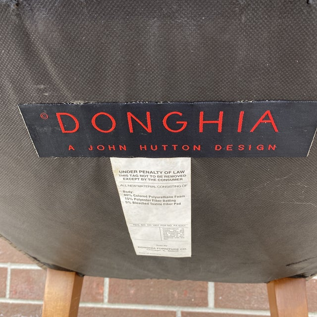 Chic, comtemporary , high-end Plato barrel chairs by John Hutton Designs for Donghia. Donghia Furniture is owned by...
