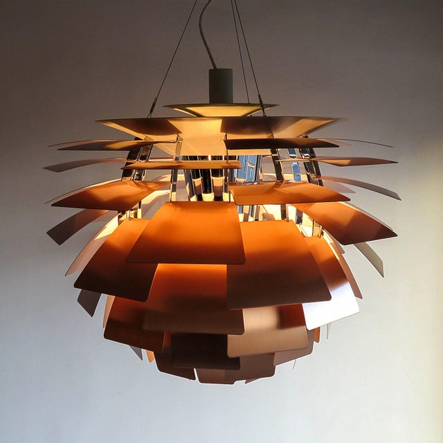 1950s Large Ph Artichoke Copper Lamp by Poul Henningsen For Sale In Los Angeles - Image 6 of 11