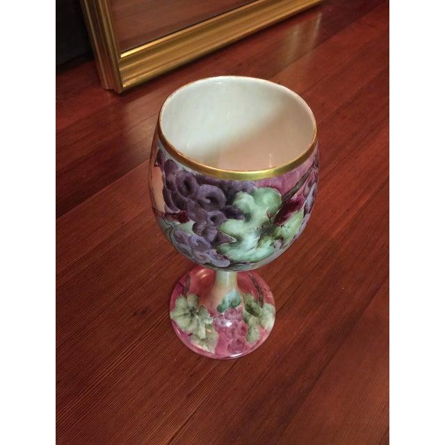 Antique Willets Belleek Porcelain Chalice For Sale - Image 4 of 5