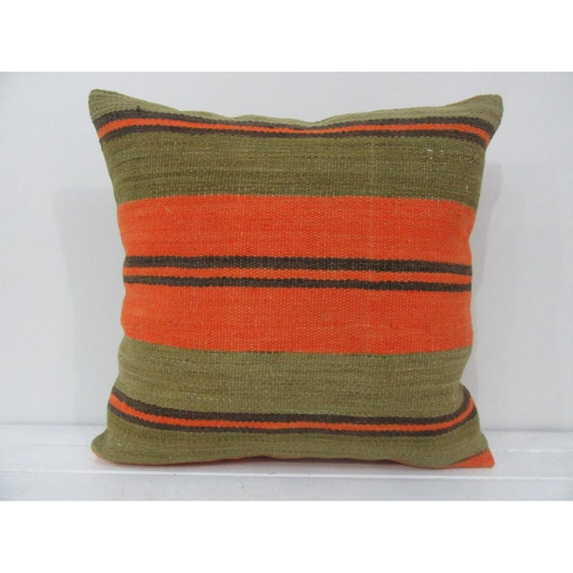 Vintage Striped Kilim Pillow Cover For Sale - Image 4 of 4