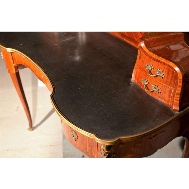 Krieger French Rococo Style Rosewood Writing Table For Sale - Image 9 of 9