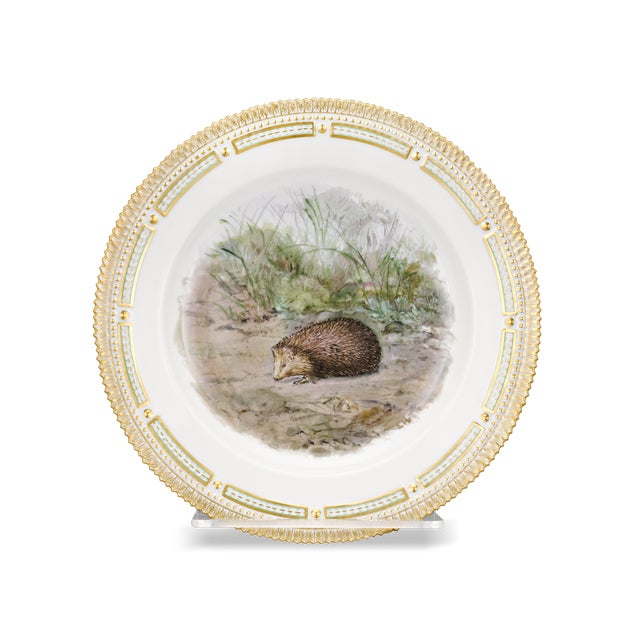 Traditional Flora Danica Hedgehog Dinner Plate For Sale - Image 3 of 3