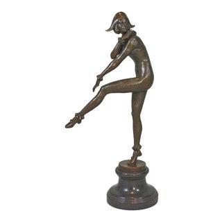 """""""Woman Dancing"""" Bronze Sculpture For Sale"""