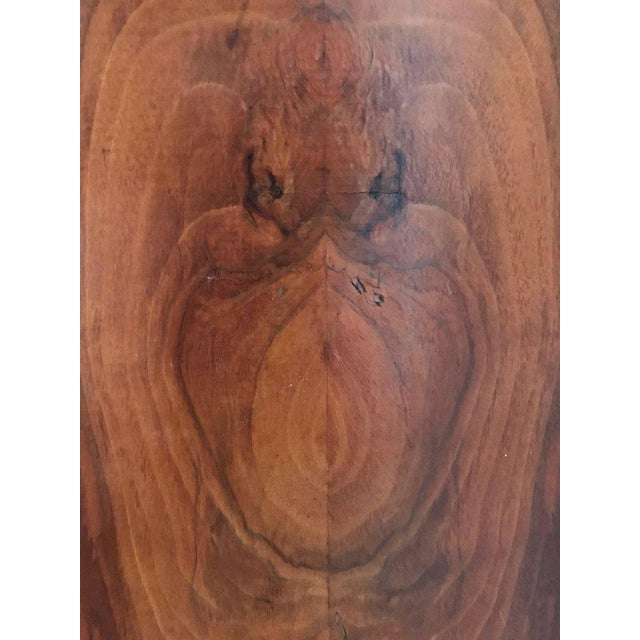 Brown Antique French Art Deco Crotch Mahogany Freres Credenza Sideboard Cabinet For Sale - Image 8 of 9