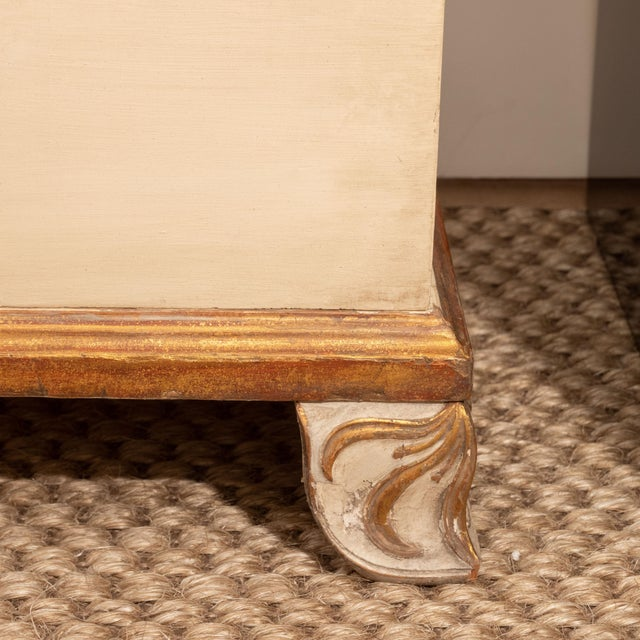 French Directoire Style Painted Bedside Tables - A Pair For Sale - Image 3 of 9
