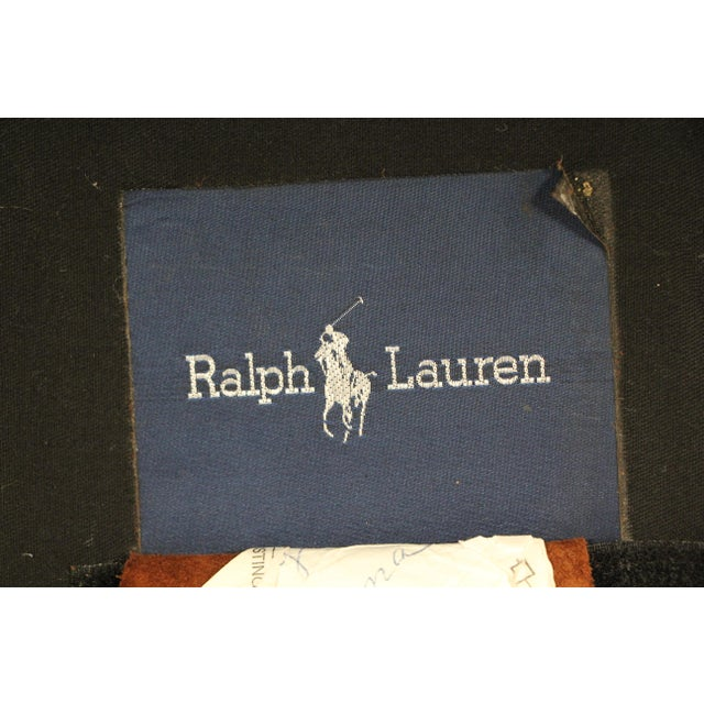 Vintage Ralph Lauren Leather Floating Sofa For Sale - Image 12 of 13