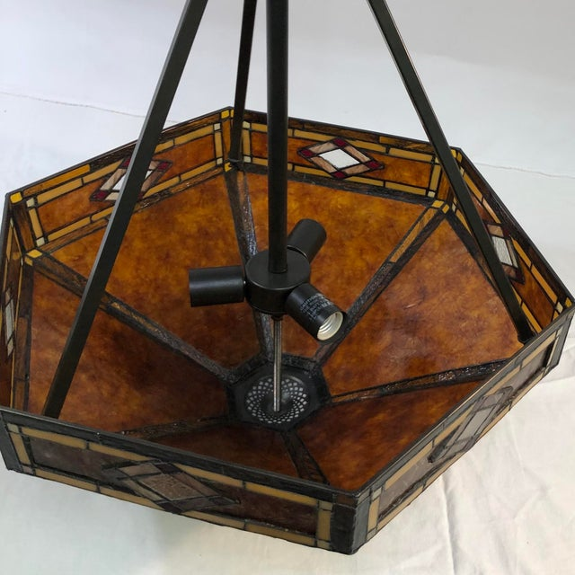 Quoizel Lighting Museum of New Mexico 3-Light Pendant - Showroom Sample This beautiful light pendant is constructed of...