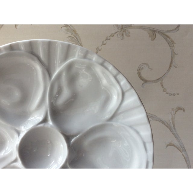 French Vintage French Porcelain Oyster Plate, 1950s For Sale - Image 3 of 7
