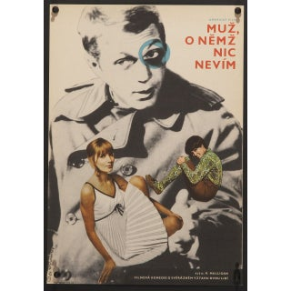 """Love With the Proper Stranger"" Czech Film Poster For Sale"