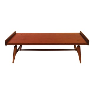 1950's Mid-Century Modern Willett Cherry Bench/Coffee Table For Sale