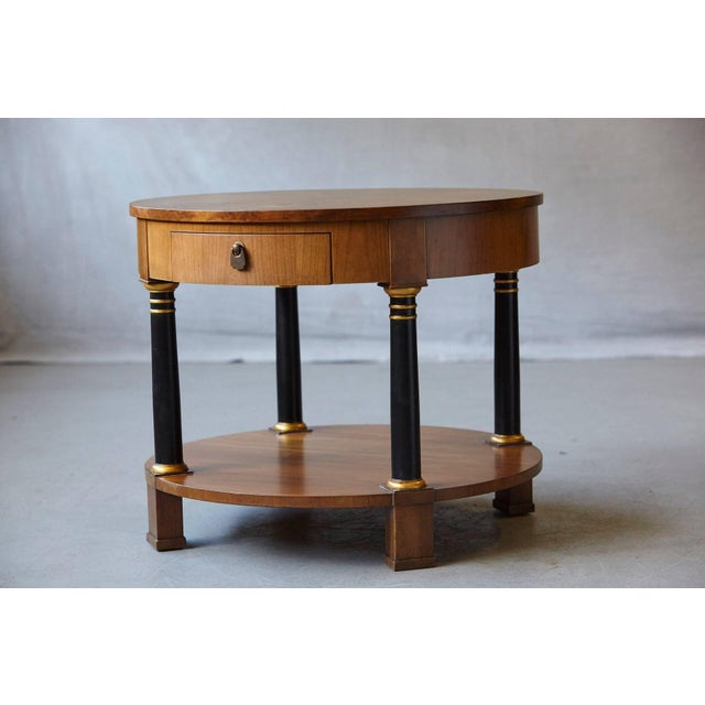 Baker Furniture Company Empire Style Walnut Side Table by Baker Furniture For Sale - Image 4 of 11