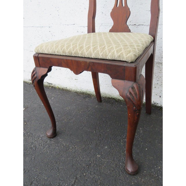 Carved Desk Vanity Chair by Berkey and Gay Furniture For Sale - Image 4 of 10
