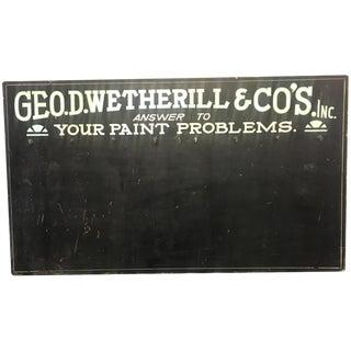 Geo. D. Wetherill & Co. Key Rack Sign