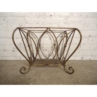1960s Hollywood Regency Style Basket / Magazine Rack Preview