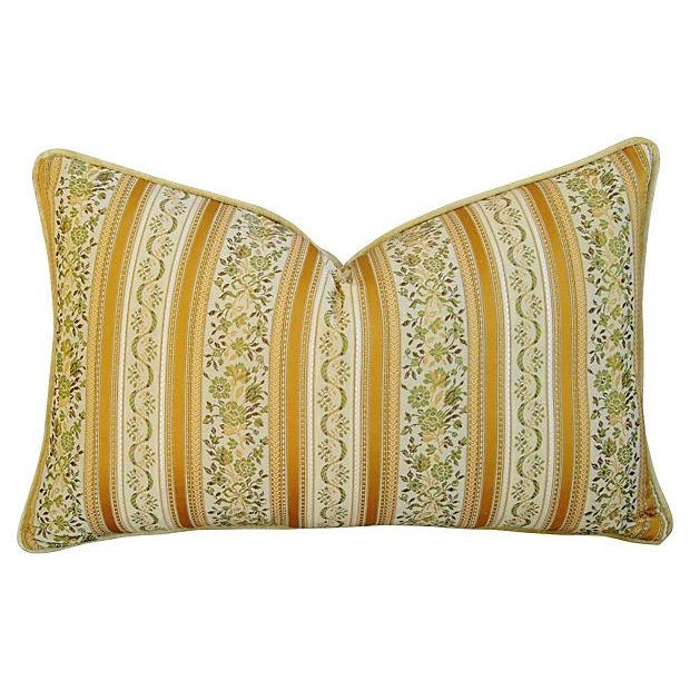 Designer Italian Brocatelle Silk Pillows - a Pair - Image 2 of 7