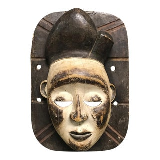 Mid 20th Century Vintage African Tribal Bacongo Mask For Sale