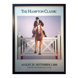 The Hampton Classic Poster 1991 by Lynn Curlee For Sale