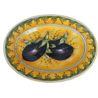 Tuscan Eggplant Decorative Platter For Sale