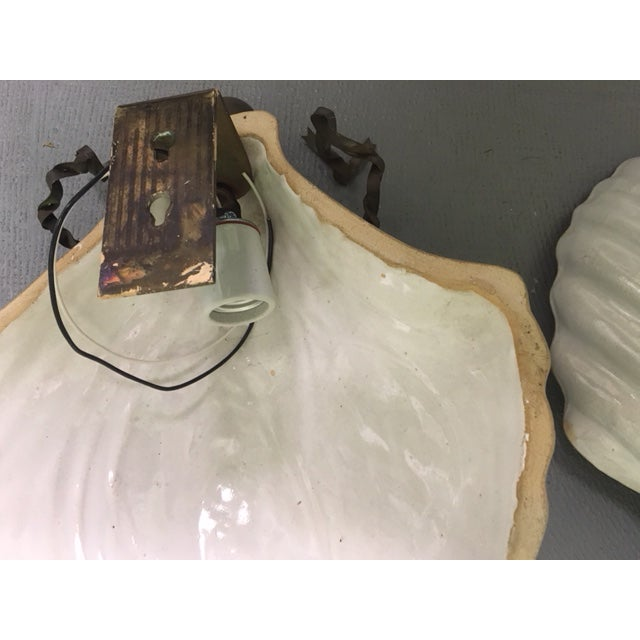 Hart & Associates Ceramic Wall Sconces - A Pair For Sale In West Palm - Image 6 of 8
