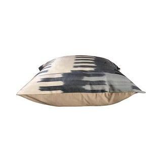 Modern Kim Salmela Grayscale Turkish Silk Ikat Square Pillow Preview