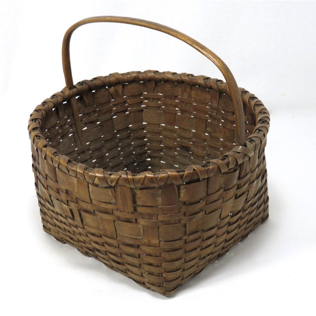 20th Century Rustic Maine Woven Basket For Sale - Image 13 of 13