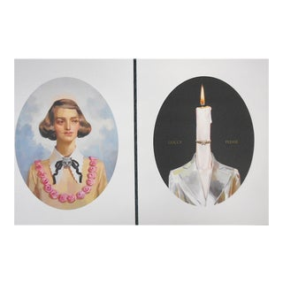 Gucci Illustration Art-Lithographs by Ignase Monreal-A Pair For Sale