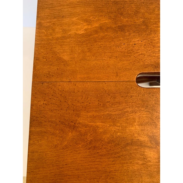 Wood Antique Birdseye Maple Library Steps For Sale - Image 7 of 13