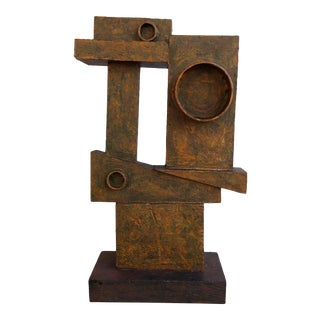 """Abstract Cubist Sculpture """"Dual"""" by Bill Low For Sale"""