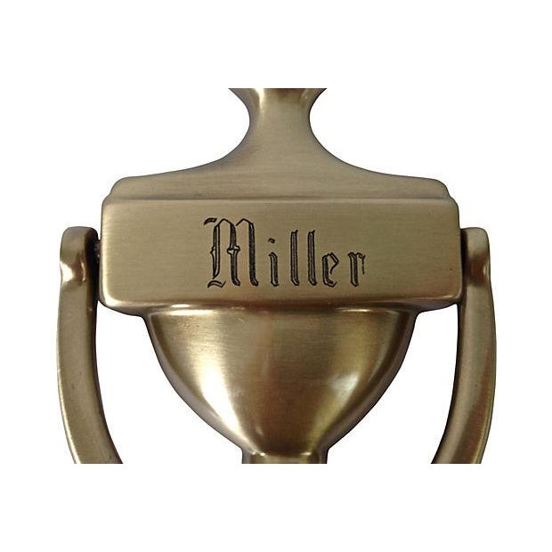 "Engraved Door Knocker ""Miller"" - Image 2 of 6"