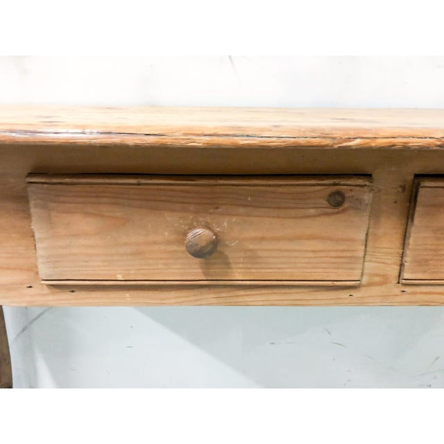 Antique French Pine Console Table - Image 3 of 5