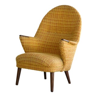 Danish Mid-Century Hans Wegner Style Mama Bear Lounge Chair 1960's For Sale