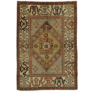 Late 20th Century Vintage Turkish Oushak Rug - 5′5″ × 7′10″ For Sale