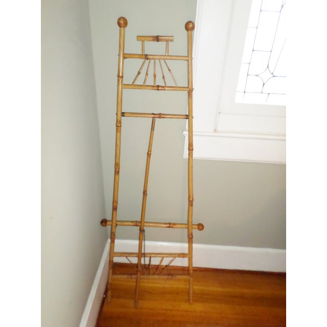 Antique Victorian Bamboo Floor Easel Display Stand For Sale - Image 4 of 7