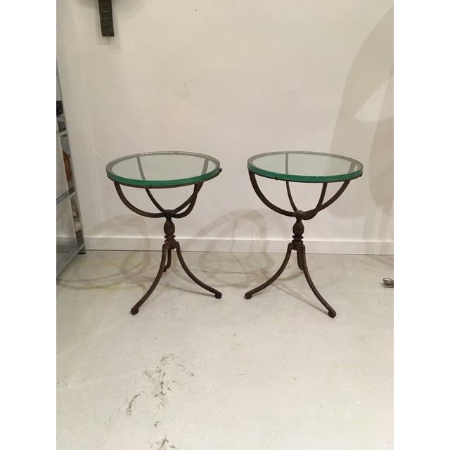 20th Century Shabby Chic Iron Accent Tables - a Pair For Sale - Image 10 of 10