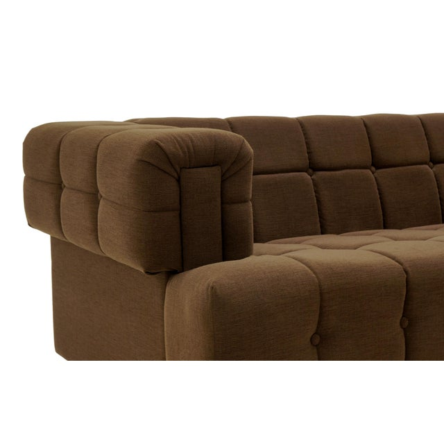 Even Arm Tufted Chesterfield Sofa, 1970s, New Upholstery, Very Comfortable For Sale - Image 4 of 7