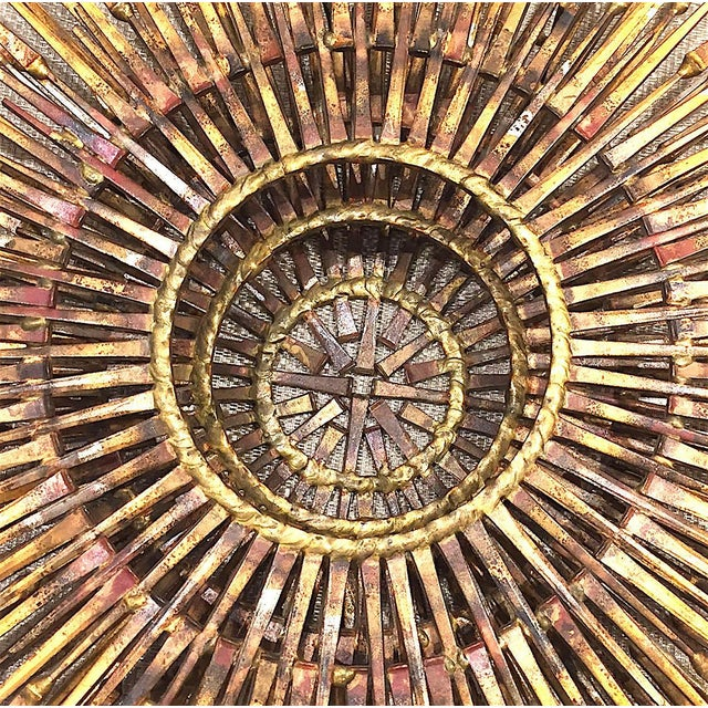 William Bowie American Gilt Metal Wall Sunburst by William Bowie For Sale - Image 4 of 5