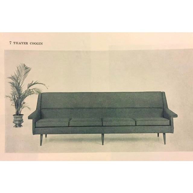 Reupholstered! Early Milo Baughman Thayer Coggin Four Seat Sofa For Sale - Image 9 of 13
