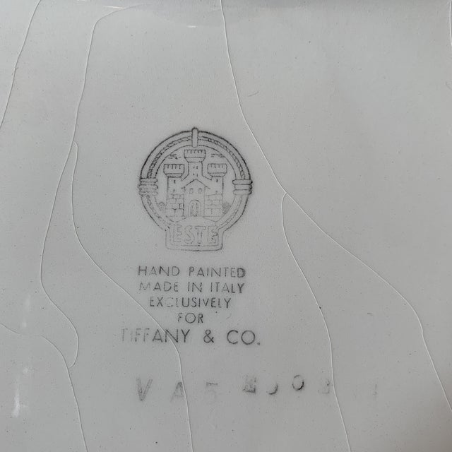 2000 - 2009 Tiffany Serving Platter by Este Ceramiche Italy For Sale - Image 5 of 7