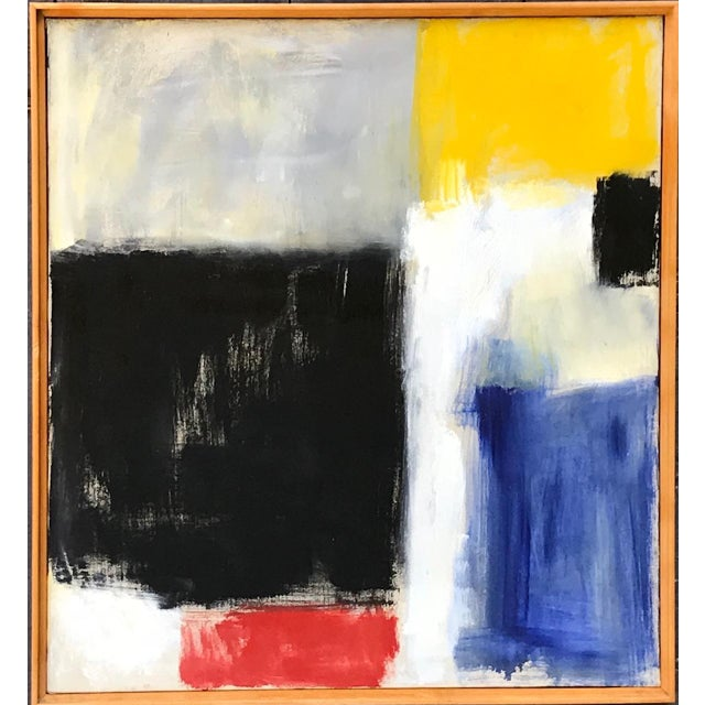 1950s Abstract Expressionist Painting by Ann Ayvaliotis For Sale - Image 5 of 5