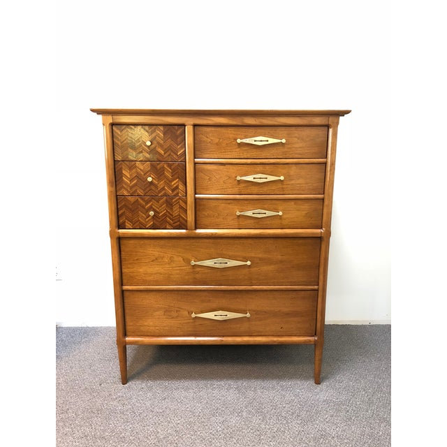"Mid-Century Tomlinson ""Sophisticate"" 9-Drawer Tall Chest For Sale - Image 9 of 9"