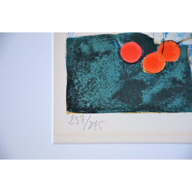 1960s Hand Lithographed Still Life Print by French Artist Yves Ganne For Sale - Image 5 of 10