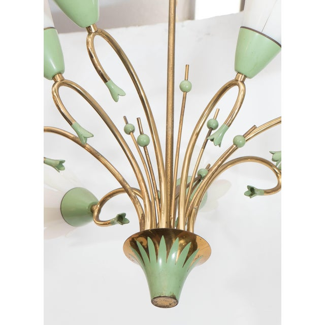 Contemporary 1960s Floral Eight-Light Chandelier For Sale - Image 3 of 8