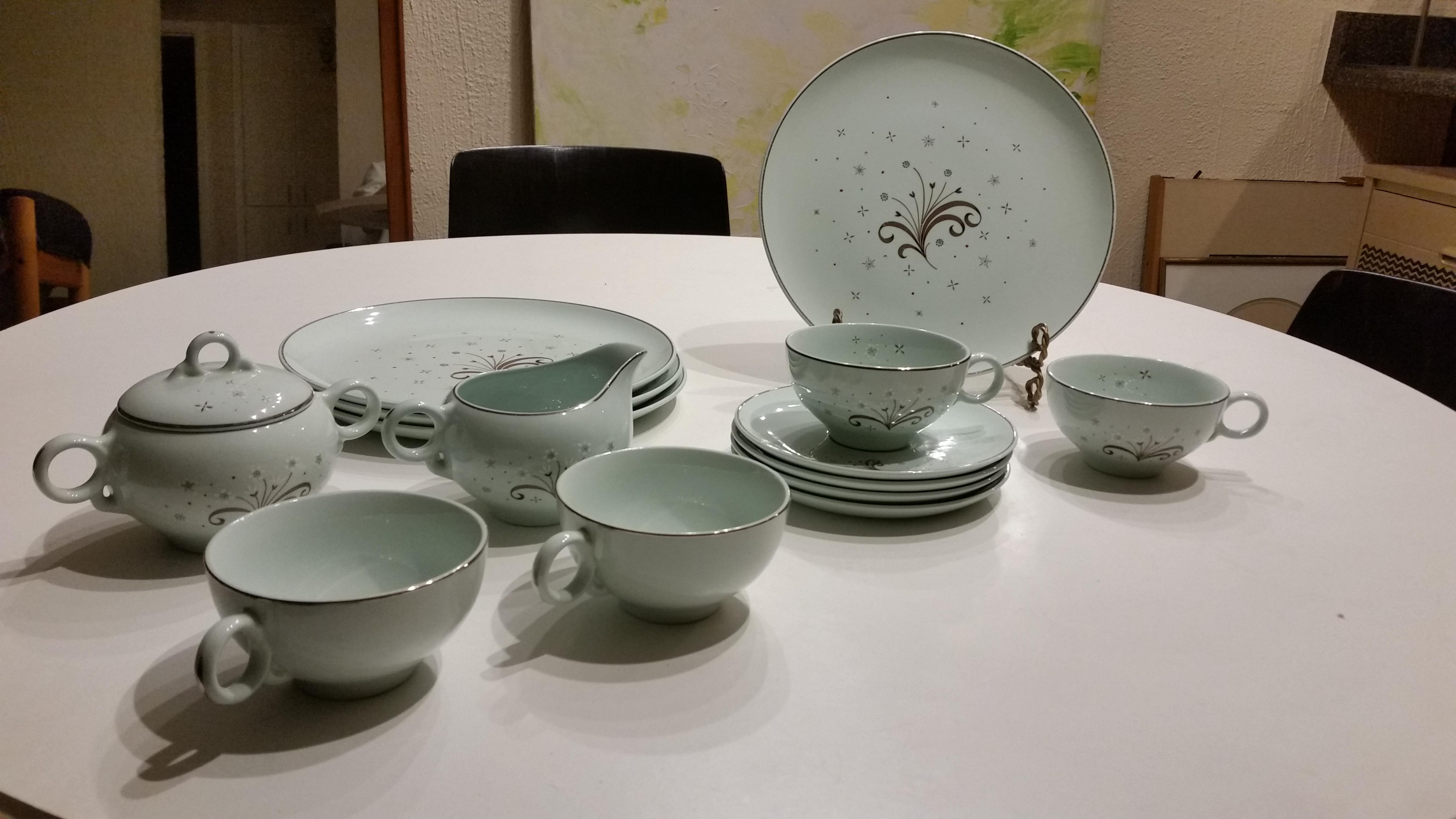 Mid-Century Universal Ballerina Mist China Set - Image 2 of 7  sc 1 st  Chairish & Mid-Century Universal Ballerina Mist China Set | Chairish