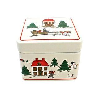 """Joy of Christmas"" Porcelain Box For Sale"