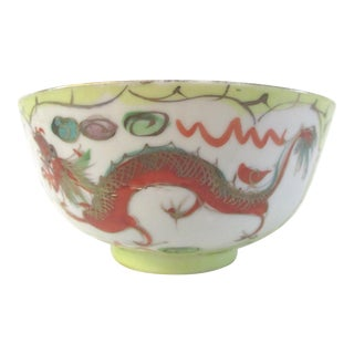 Chinese Hand-Painted Dragon Fingertip Bowl For Sale