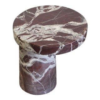 Italian Marble Cantilever Occasional Table For Sale