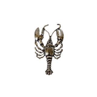 Vintage Sterling Silver Lobster Brooch For Sale