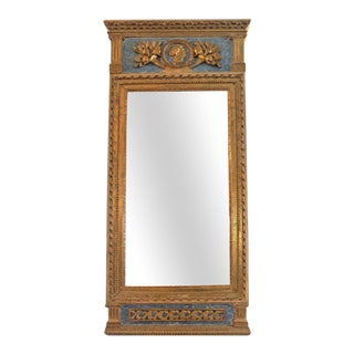 18th Century Swedish Gilt Wood Trumeau Mirror For Sale