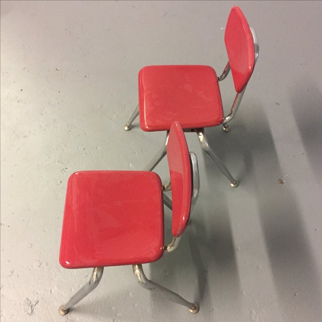 Vintage Pink Virco Children's Chair - Pair - Image 5 of 7